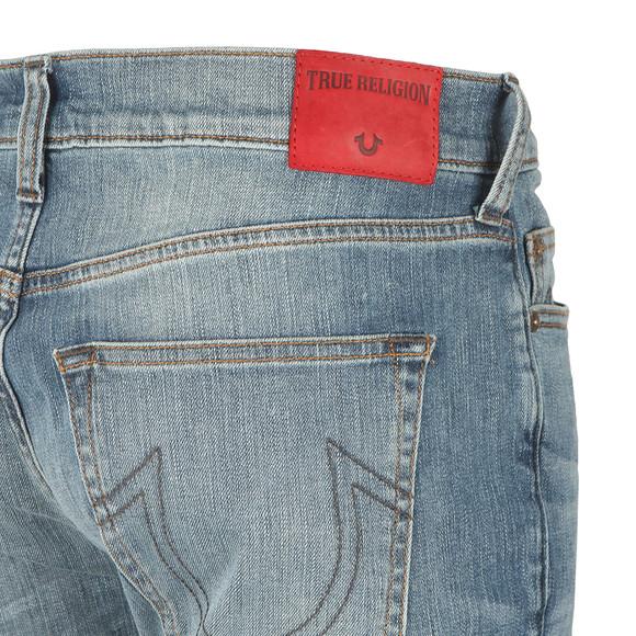 True Religion Mens Blue Rocco No Flap Jean