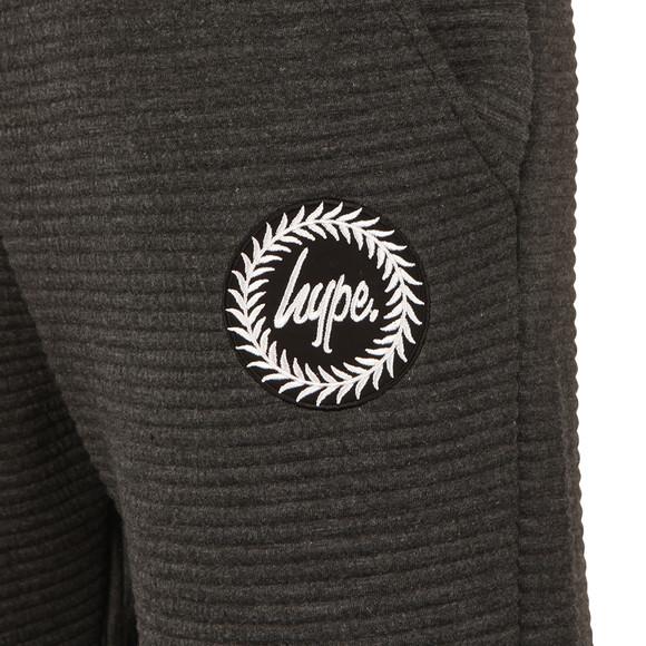 Hype Mens Grey Ribbed Joggers  main image