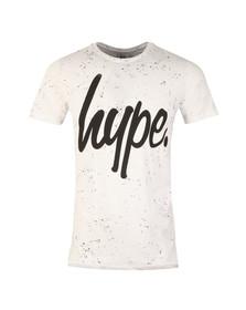Hype Mens White AOP Speckle T-Shirt