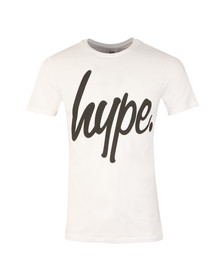 Hype Mens White Hype Script T-Shirt
