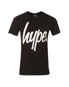 Hype Mens Black Hype Script T-Shirt