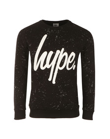 Hype Mens Black AOP Speckle Crew Sweat