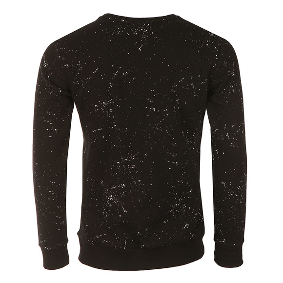 Hype Mens Black AOP Speckle Crew Sweat main image