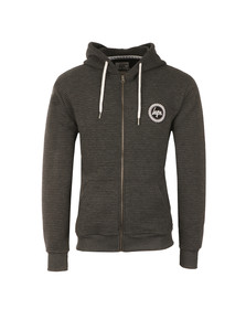 Hype Mens Grey Ribbed Zip Hoodie