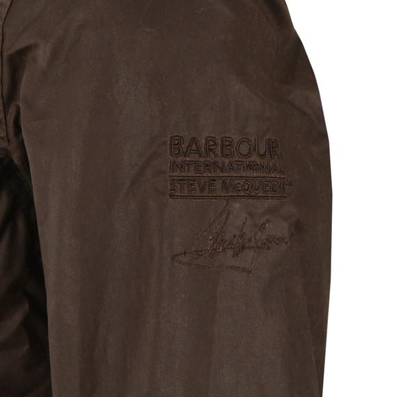 Barbour Steve McQueen Mens Green Chico Wax Jacket main image