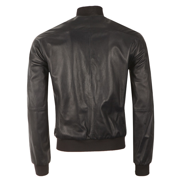Armani Jeans Mens Blue Leather Blouson  main image