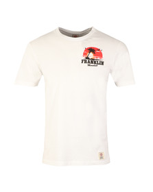 Franklin & Marshall Mens White Sunset Crew T-Shirt