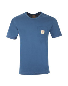 Franklin & Marshall Mens Blue Round Neck Jersey Pocket T-Shirt