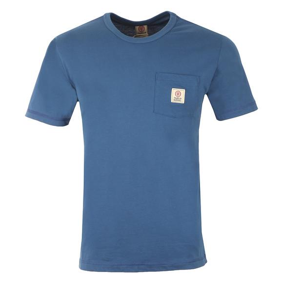 Franklin & Marshall Mens Blue Round Neck Jersey Pocket T-Shirt main image