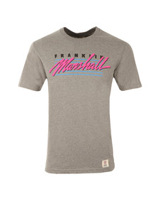 Franklin & Marshall Mens Grey Skateboard Crew Neck T-Shirt