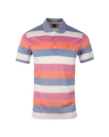 Paul & Shark Mens Multicoloured Knitted Block Stripe Polo Shirt