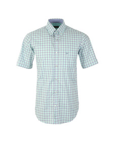 Paul & Shark Mens Green Linen Mix Short Sleeve Shirt