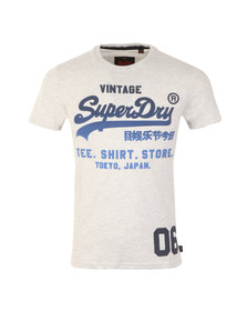 Superdry Mens Grey S/S Shirt Shop Fade Tee
