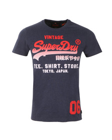 Superdry Mens Blue S/S Shirt Shop Fade Tee