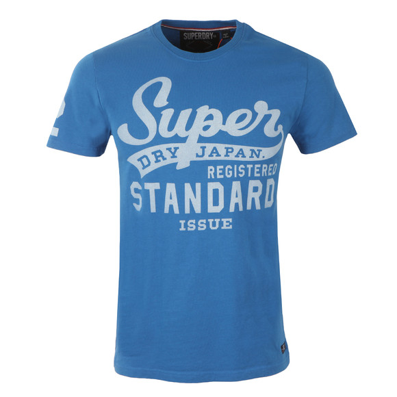 Superdry Mens Blue S/S Standard Issue Tee main image