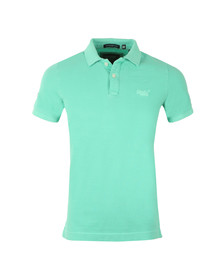 Superdry Mens Green Vintage Destroyed SS Pique Polo