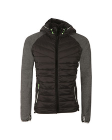 Superdry Sport Mens Black Hybrid Ziphood