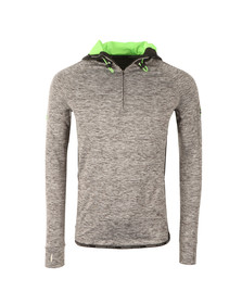 Superdry Sport Mens Grey Athletic 1/2 Zip Hood