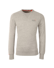 Superdry Mens Grey Orange Lable Crew Sweat