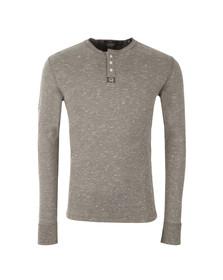 Superdry Mens Grey Heritage LS Grandad T-Shirt