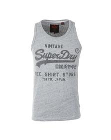 Superdry Mens Grey Shirt Shop Vest