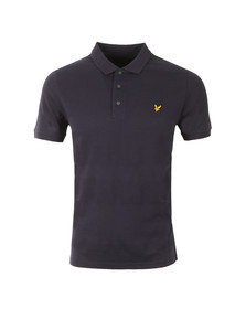 Lyle and Scott Mens Blue S/S Mouline Yoke Polo