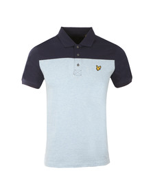 Lyle and Scott Mens Blue S/S Yoke Polo