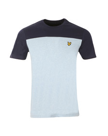 Lyle and Scott Mens Blue S/S Yoke Tee