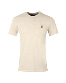Lyle and Scott Mens Off-white S/S Textured Yoke Tee