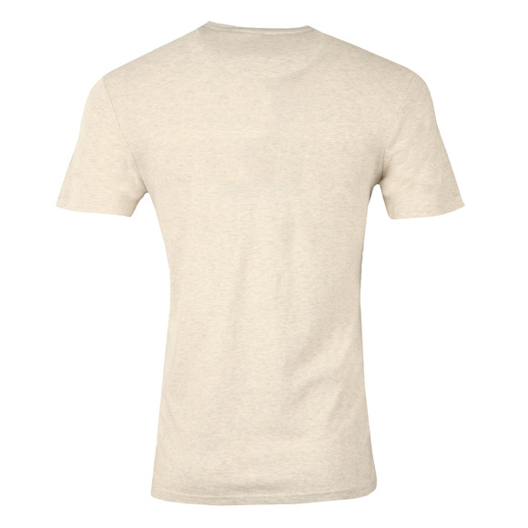 Lyle and Scott Mens Off-white S/S Textured Yoke Tee main image