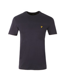 Lyle and Scott Mens Blue S/S Textured Yoke Tee
