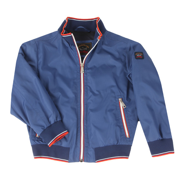 Paul & Shark Cadets Boys Blue Woven Lightweight Jacket main image
