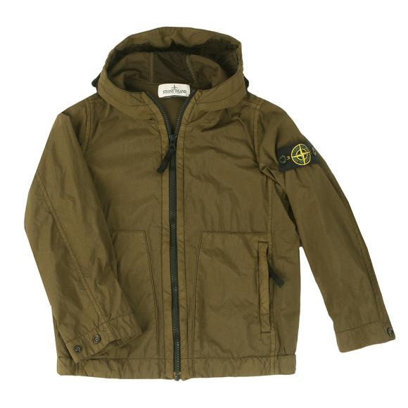 Stone Island Junior  Boys Green Lightweight Hooded Jacket main image