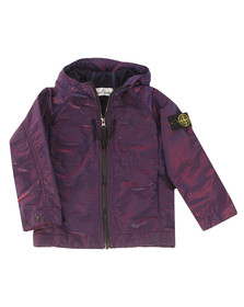 Stone Island Junior  Boys Purple Nylon Metal Colour Weft