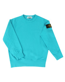Stone Island Junior  Boys Blue Lightweight Crew Sweatshirt