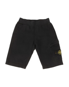 Stone Island Junior  Boys Blue Button Badge Jogger Short