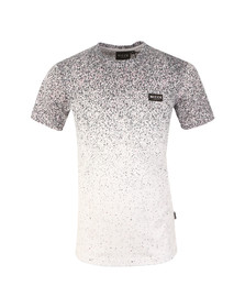 Nicce Mens White Speckle Fade Print T Shirt