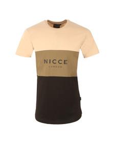 Nicce Mens Grey Triple Panel T-Shirt