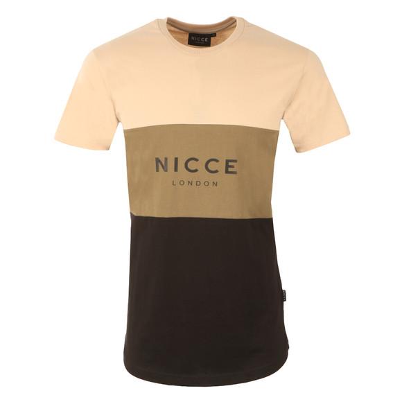 Nicce Mens Grey Triple Panel T-Shirt main image