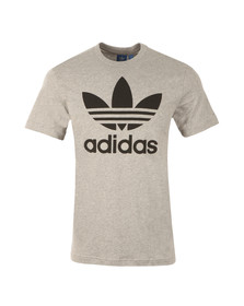 Adidas Originals Mens Grey Trefoil Tee
