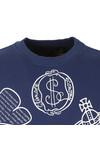 Vivienne Westwood Anglomania Mens Blue News Logo Mix Sweatshirt