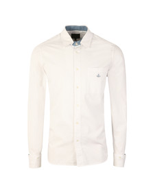 Vivienne Westwood Anglomania Mens White Detachable Detail L/S Shirt