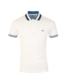 Lacoste Mens White PH2011 S/S Polo