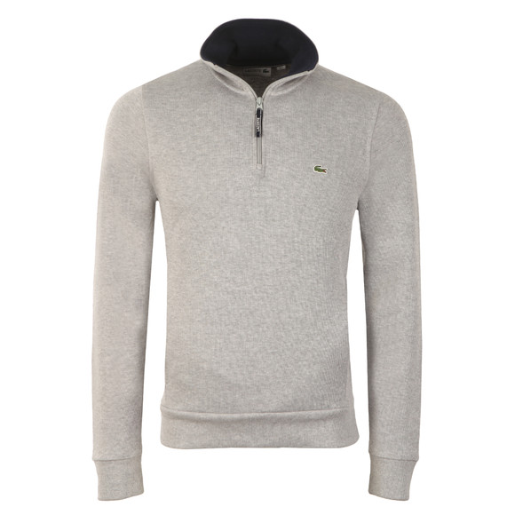 Lacoste Mens Grey Half Zip Sweatshirt SH1925 main image