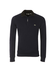 Lacoste Mens Blue Half Zip Sweatshirt SH1925