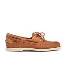 Sebago Mens Brown/white Dockside Boat Shoe