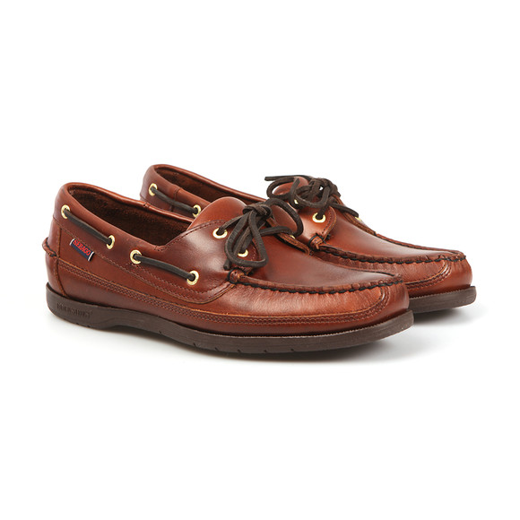 Sebago Mens Brown Schooner Boat Shoe main image