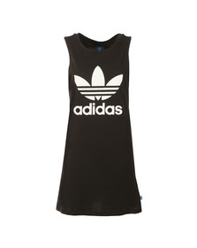 Adidas Originals Womens Black Trefoil Tank Dress