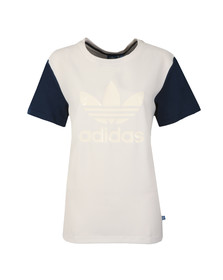 Adidas Originals Womens White Boyfriend Trefoil Tee