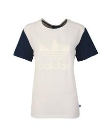 Adidas Originals Womens White Boyfriend Trefoil Tee